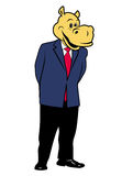 Hippo in a suit 10. Hippo in a suit and tie Stock Images
