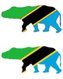 Hippo Tanzania Royalty Free Stock Photos