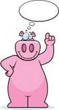 Hippo Thinking Royalty Free Stock Photos