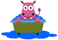 Hippo in a tub Royalty Free Stock Images