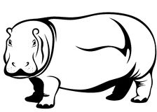 Hippo vector Stock Photos