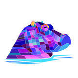 Hippo vector hippopotamus animal mammal illustration cartoon cut Royalty Free Stock Photo