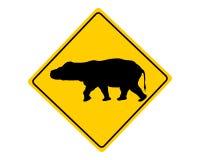 Hippo warning sign Stock Image