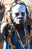 Tribal woman. Woman from the Mursi tribe in Namibia in the Omo Valley Stock Photography