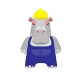 Hippo worker Stock Photo