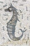 Hippocampe de mosaïque Photographie stock