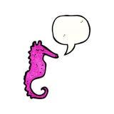 hippocampe rose de bande dessinée Images libres de droits
