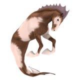 Hippocampus Mermaid's Horse. 3D digital render of Hippocampus (Mermaid's Horse) isolated on white background Stock Photos