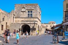 Hippocrates square. Rhodes, Greece Royalty Free Stock Photos