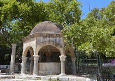 Hippocrates tree at Kos island in Greece Stock Photo