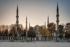 hippodrome Blauwe Moskee (Sultan Ahmet Camii Mosque) op het Sultanahmet-gebied van Istanboel in Turkije Stock Afbeelding