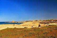 Hippodrome in Caesarea Maritima National Park Stock Photos