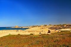 Hippodrome in Caesarea Maritima National Park Stock Photos