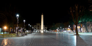 Hippodrome of Constantinople  at night Royalty Free Stock Images