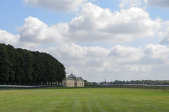 Hippodrome de Chantilly. Chantilly is the string of European training centers with nearly 3,000 horses daily attendance. 45% of participants taking part in races Royalty Free Stock Images