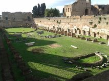 Hippodrome Of Domitian, historic site, amphitheatre, archaeological site, grass. Hippodrome Of Domitian is historic site, grass and ancient history. That marvel royalty free stock photography