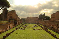 Hippodrome Stadium of Domitian at Palatine Hill Rome Royalty Free Stock Photography