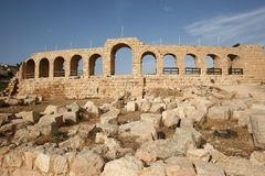 Hippodrome en Jordanie Photo stock