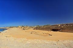 Hippodrome en parc national de Césarée Maritima Photographie stock