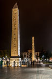 Hippodrome (At Meydani) - Thutmosis' and Walled Obelisk Stock Photos