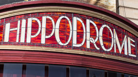 Hippodrome Sign Stock Photography