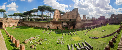 Hippodrome Stadium of Domitian, Palatine Hill Rome Stock Photos