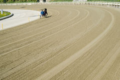 Hippodrome. Trotting race Royalty Free Stock Image