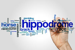 Hippodrome word cloud Royalty Free Stock Photos