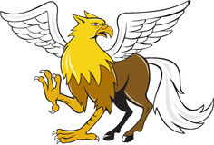 Hippogriff Prancing Isolated Cartoon Royalty Free Stock Photography