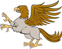 Hippogriff Prancing Side Isolated Cartoon Stock Photos