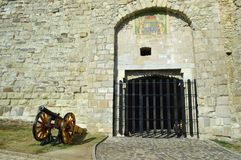 Hippolyt门,其中一埃格尔城堡的正门 免版税图库摄影