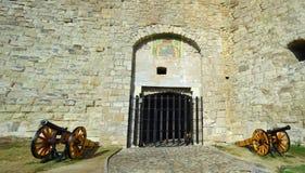 Hippolyt门,其中一埃格尔城堡的正门 库存照片