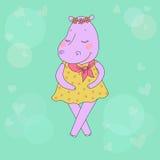 Hippomeisje met gesloten ogen die een bloemkroon op het hoofd hebben Stock Foto