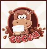 Hippopotame avec la boisson de cacao Image libre de droits