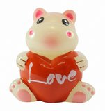 Hippopotame avec le coeur Image stock