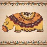Hippopotame décoratif d'illustration Photo libre de droits