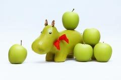 Hippopotame dans les pommes Images libres de droits