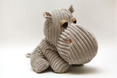 Hippopotame de peluche Images stock