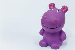 Hippopotame en caoutchouc Photographie stock