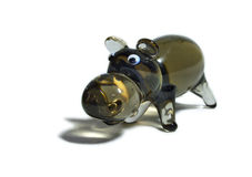 Hippopotame en verre Photographie stock libre de droits