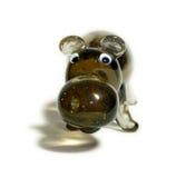 Hippopotame en verre Photo libre de droits