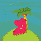 Hippopotame heureux Image libre de droits