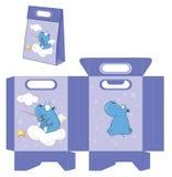hippopotame Modèle de paquets de sacs à main Photographie stock libre de droits