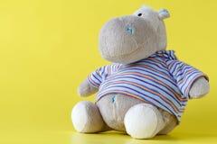 Hippopotame mol de jouet Photographie stock libre de droits