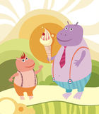 Hippopotamus illustrazione di stock