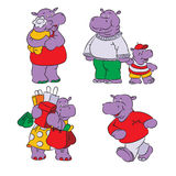 Hippopotamus vektor abbildung