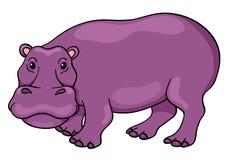 Χαριτωμένο hippopotamus κινούμενων σχεδίων Στοκ Εικόνες