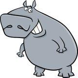 Hippopotamus cartoon illustartion Stock Images