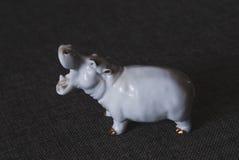 Hippopotamus. Chinese porcelain figurine of a hippopotamus Royalty Free Stock Photos