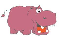 Hippopotamus divertente illustrazione vettoriale